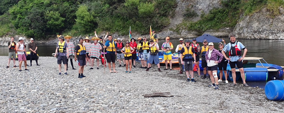 Frogparking team before going river rafting